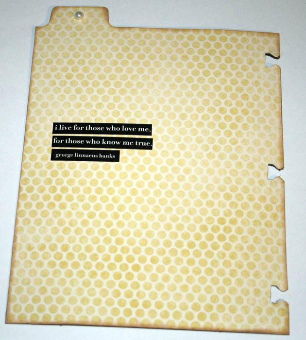 Sneak Peek Pattern Paper w Quote