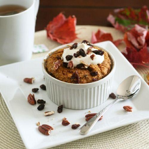 Instant pumpkin pie oatmeal bake